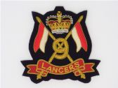 9th QUEEN'S ROYAL LANCERS BLAZER BADGE